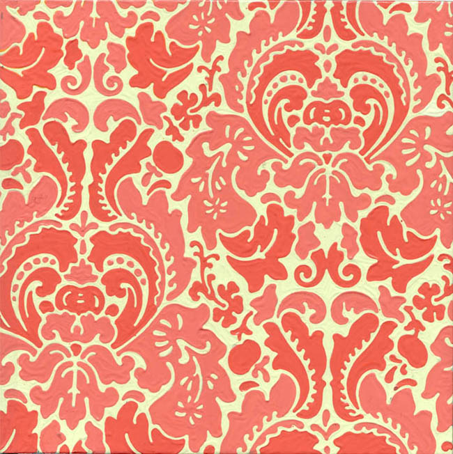 Red Floral Wallpaper Sample 1