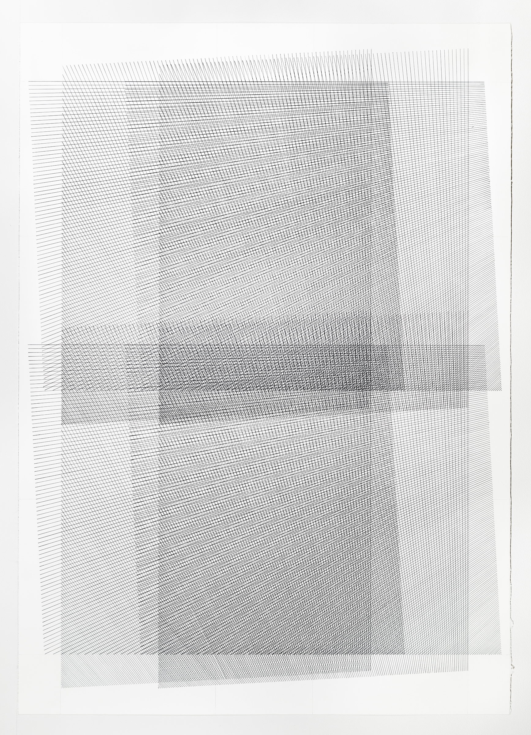 3 of 5; additive series, grey, 40 x 30 inches, 2016