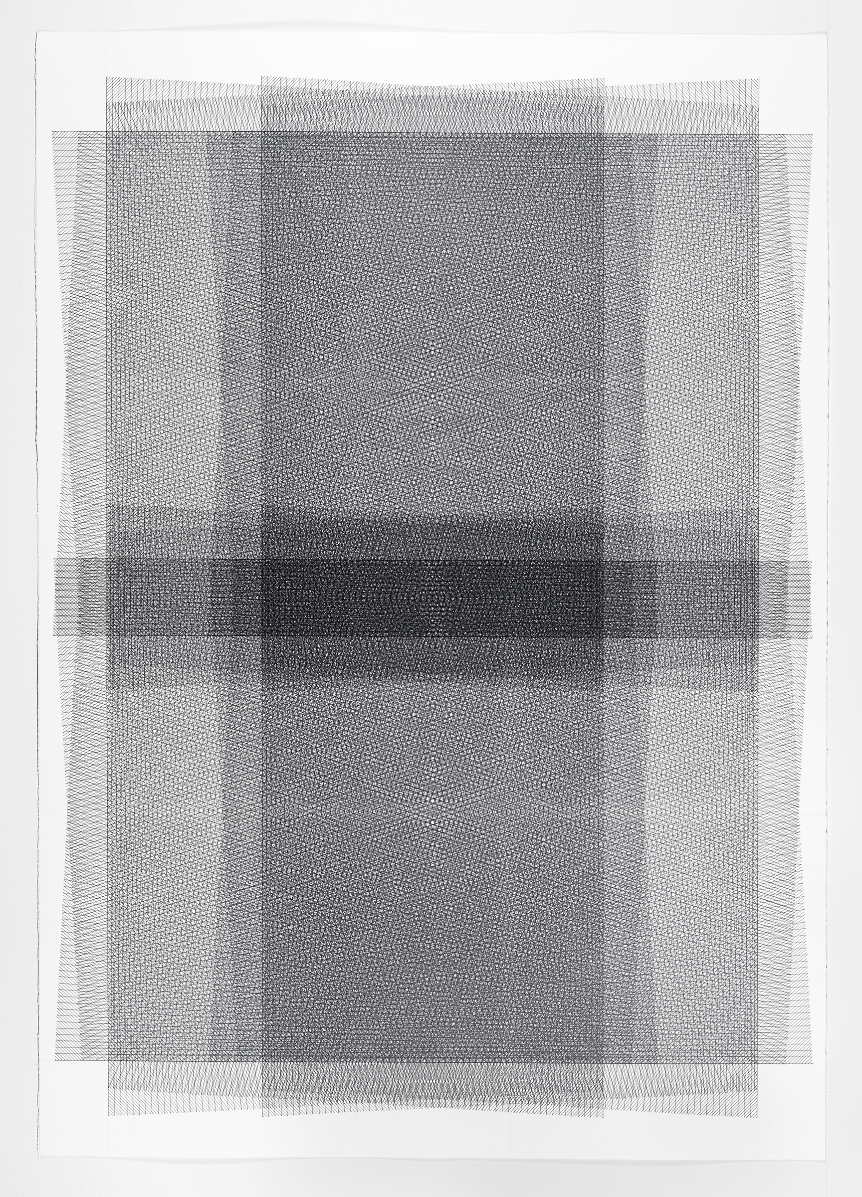 5 of 5; additive series, grey, 40 x 30 inches, 2016
